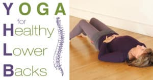 YHLB Yoga for back pain Logo and Banner