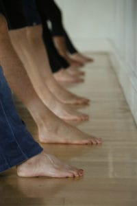 YHLB Yoga Group Lined up Feet