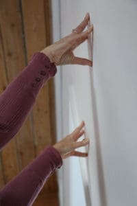 YHLB Yoga Fingertips to Wall pose