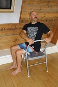 YHLB Yoga in the Workplace - Seated Chair Twist