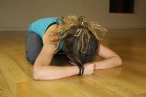YHLB Yoga Pose of Child DeStressing for Mental Health